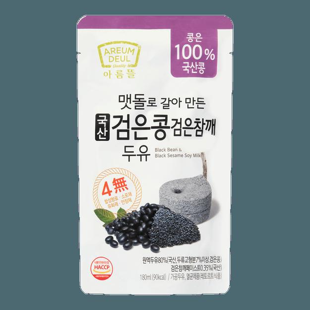 商品详情 - 韩国AREUM DEUL 黑豆黑芝麻豆奶 180ml - image  0