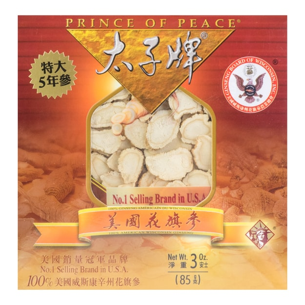 PRINCE OF PEACE American Wisconsin Ginseng Slices AC-B3SL5 85g