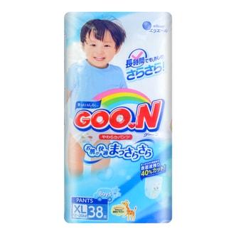 日本GOO.N大王 维E系列拉拉纸尿裤 男宝宝专用 #XL 12-20kg 38枚入