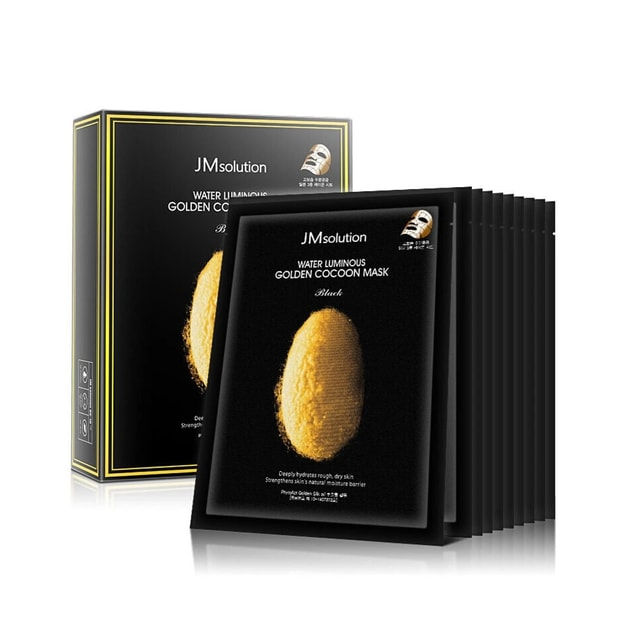 Product Detail - JM SOLUTION Water Luminous Golden Cocoon Mask Black 10sheets - image  0
