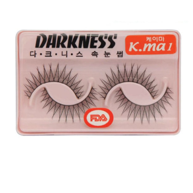 Product Detail - DARKNESS False Eyelashes  #K.ma1 2Pair In 1Box - image 0