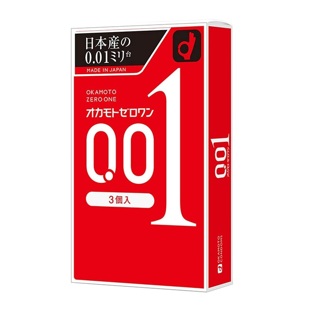 Product Detail - OKAMOTO 0.01 Condoms 3 Pieces - image 0
