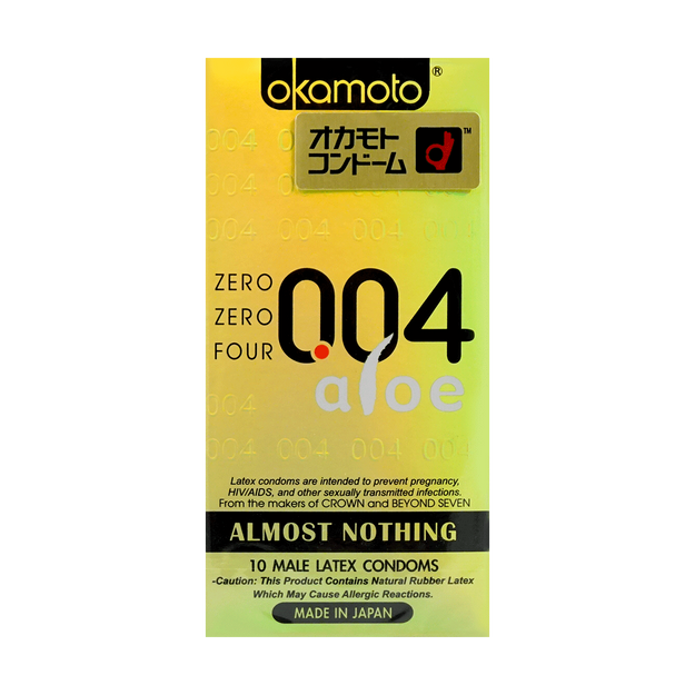 Product Detail - 【New】Adult toy OKAMOTO 004 Condom Aloe 10pcs - image 0