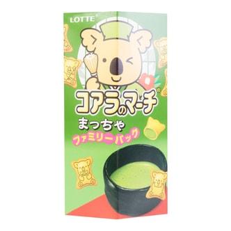 日本LOTTE乐天 考拉系列饼干 抹茶味 超大家庭装 10袋入 195g