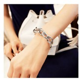 MAGZERO Link Metal Bracelet Silver