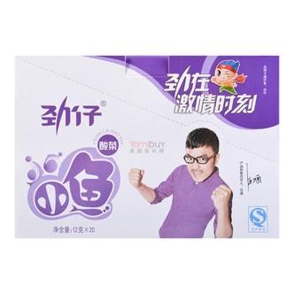 华文食品 劲仔小鱼 酸菜味 12g×20包入  湖南特产 汪涵代言