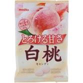 【日本直邮】日本名糖 MEITO 冈山白桃味糖果水果味硬糖75g