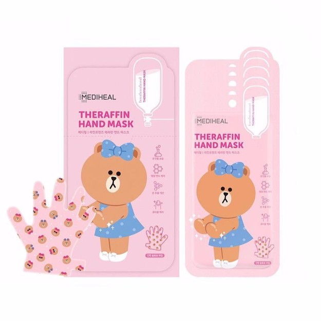 商品详情 - 韩国 MEDIHEAL 美迪惠尔 可莱丝 小熊嫩白保湿护理手膜 5对/盒 - image  0