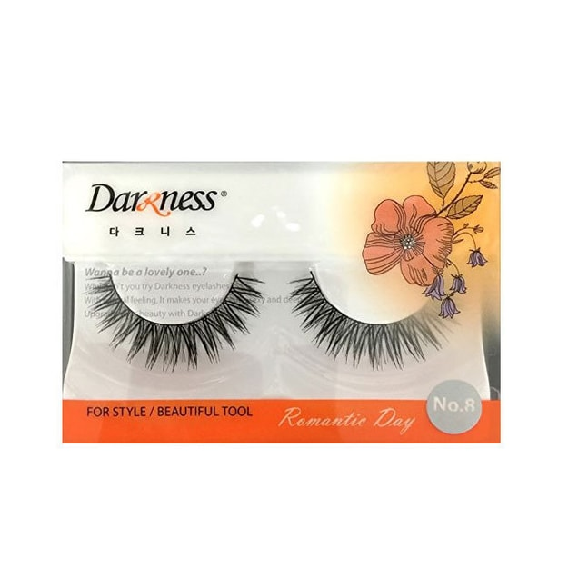 Product Detail - DARKNESS False Eyelashes #NO8 1Pair In 1Box - image 0