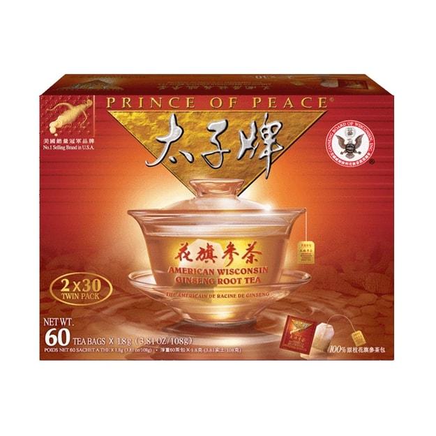 商品详情 - 太子牌 花旗参茶 60 茶包 (3.81 Oz/108 g) - image  0
