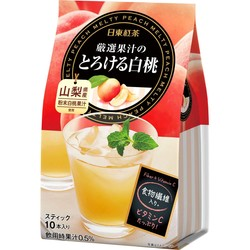 JAPAN  NITTO TEA YAMANASHI Peach Drink 10 Pouch Pack
