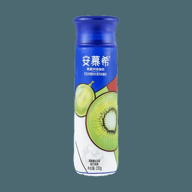 商品详情 - 安慕希 高端畅饮系列 希腊风味酸奶 猕猴桃+青提混合果肉 单瓶装 230g - image  0