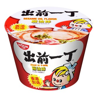 日本NISSIN日清 出前一丁 即食汤面 碗面 麻油味 110g