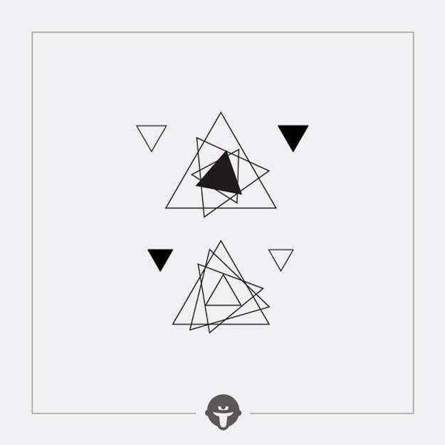 @BECOME Tattoo Stickers Rotating triangle Three Piece