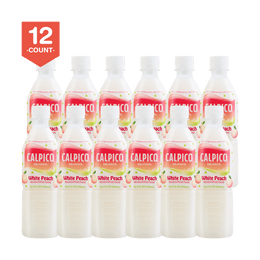 【Value Set】CALPICO Peach Naturally & Artificially Flavored Non Carbonated Soft Drink 500ml*12