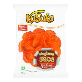 印尼KUSUKA 加厚木薯脆片 辣酱味 160g