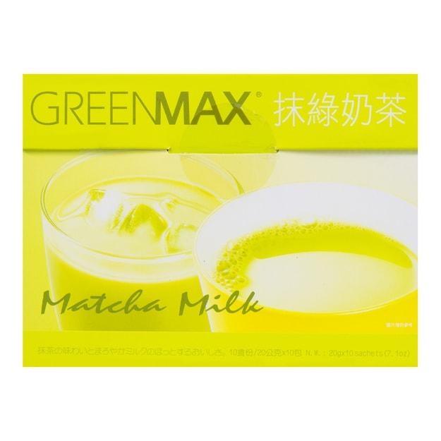商品详情 - 台湾马玉山 即食冲泡抹绿奶茶 10包入 200g - image  0