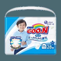GOO.N Baby Diaper Pants for Boy Type XXL Size 13-25kg (28-55lb) 28Pcs