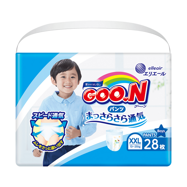 Product Detail - GOO.N Baby Diaper Pants for Boy Type XXL Size 13-25kg (28-55lb) 28Pcs - image 0