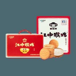 【养胃早餐夜宵最优拍档】江中集团 猴姑饼干 30独立包装入 + 早餐米稀 原味 40g×6杯入