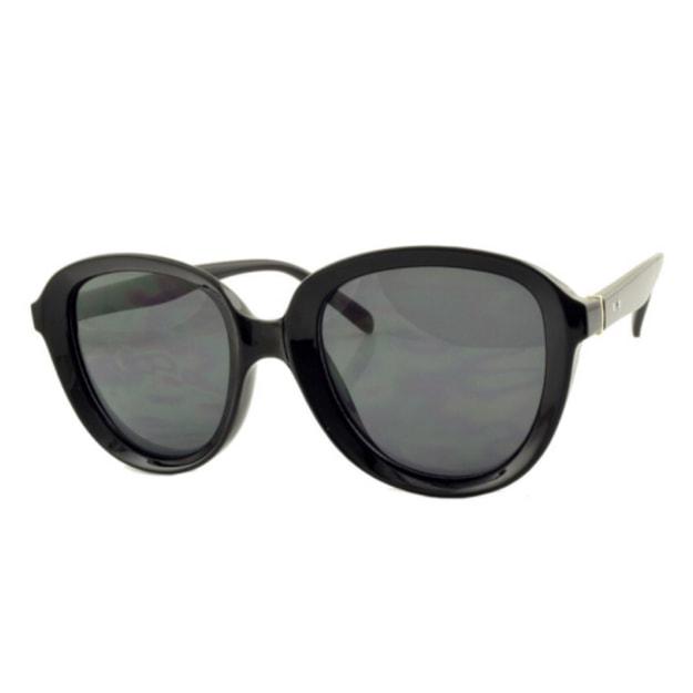 商品详情 - RETRO POP 时尚太阳镜 8058 黑色镜框/灰色镜片 - image  0