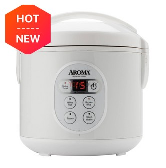 AROMA 8-Cup Digital Rice Cooker and Food Steamer 8.5