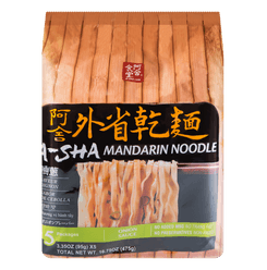 A-SHA Mandrain Noodle with Green Onion 5packs 475g