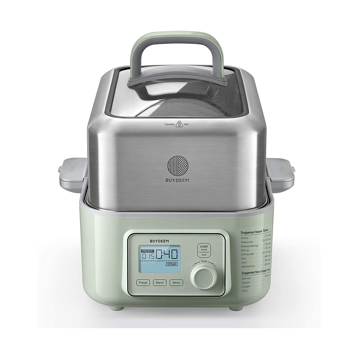 Yamibuy.com:Customer reviews:5-Quart Electric Food Steamer, One Touch Vegetable Steamer, Digital Multifunctional Steamer, Quick Steam in 60s, G563