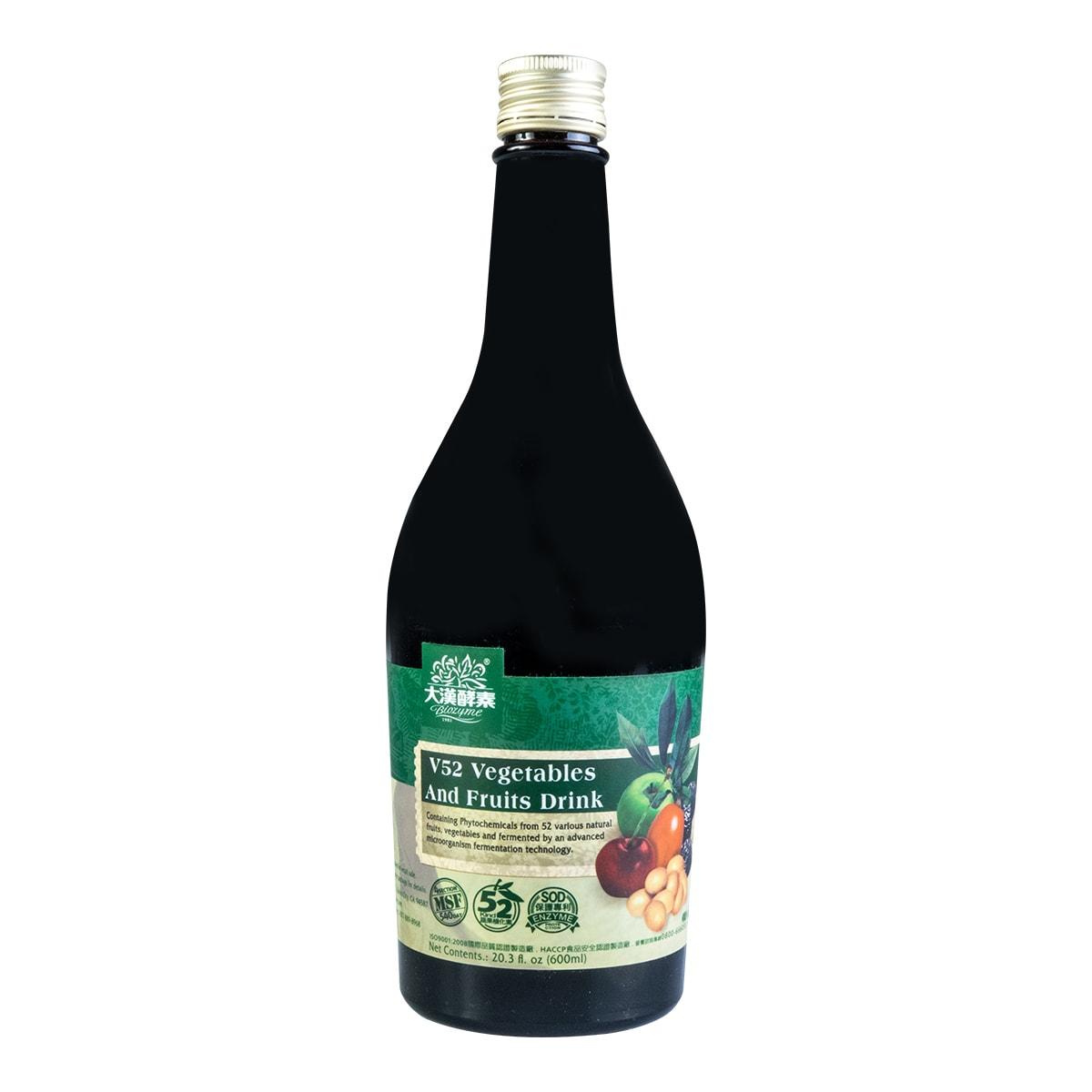 台湾大汉酵素 V52蔬果植物发酵液 600ml 调节生理机能 怎么样 - 亚米网