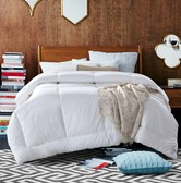 QBEDDING 100% Cotton Extra Warmth Comforter Twin Size