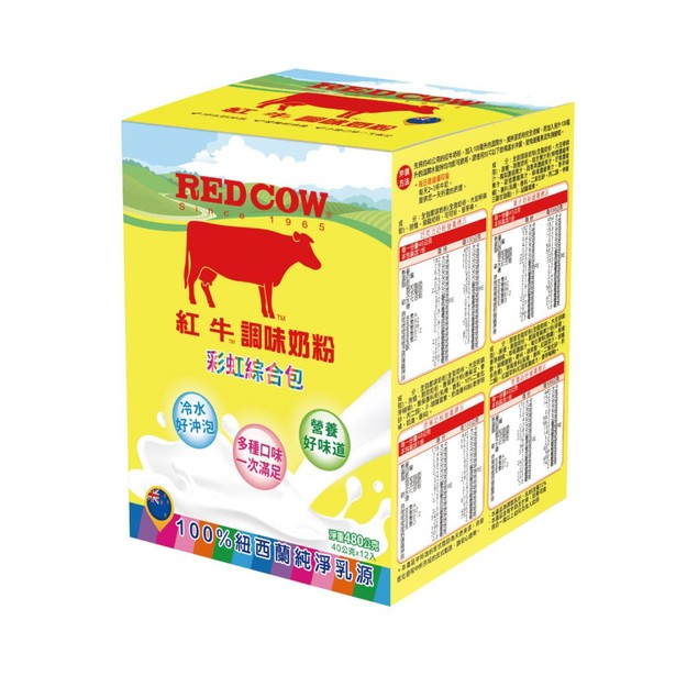 商品详情 - [台湾直邮]红牛 调味奶粉彩虹综合随手包480g 12入 - image  0