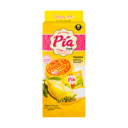 THIEN SA Banh Pia Durian Cake Vegetarian 4pc 280g