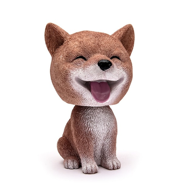 Product Detail - LORDUPHOLD Car Ornament Cute Dog Nodding Shaking Head Dog Decoration Furnishing Articles Car/Household shiba inu dog 1pc - image 0