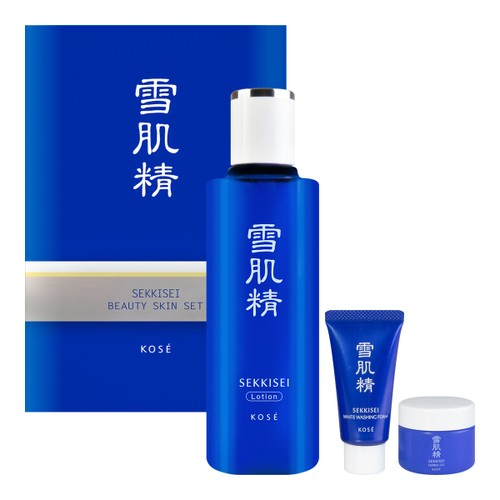 KOSE Sekkisei Toner Lotion Facial Wash 3 pcs Set