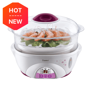[New Version] HANNEX Microcomputer Electric Stew Steamer 2-in-1 Pot 1.7 Qt. 1.7L ESTJ162P