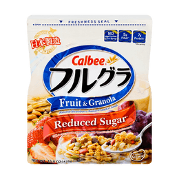 CALBEE Frugra Fruit and Granola Cereal Less Sugar 425g