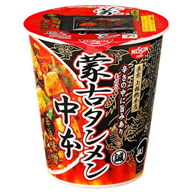 Product Detail - Japanese Nissin NISSIN latest taste Mongolia dan dan noodles in miso taste this Sim are the big cup noodles cup 118g - image 0