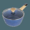 Art of Cooking 3Qt. Granite Nonstick Coated Cast Aluminum Pot with Lid Saucepan Induction Compatible #Ocean Blue
