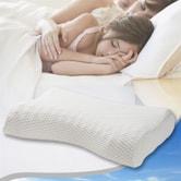 艾米杰瑞睡眠空气层月牙枕(23.2x15x4inch)