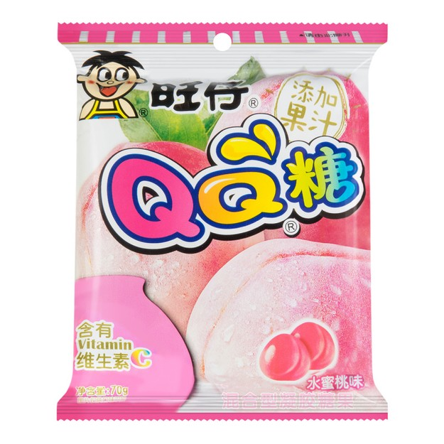 Product Detail - WANT WANT QQ Candy (Peach Flavor) 70g - image 0