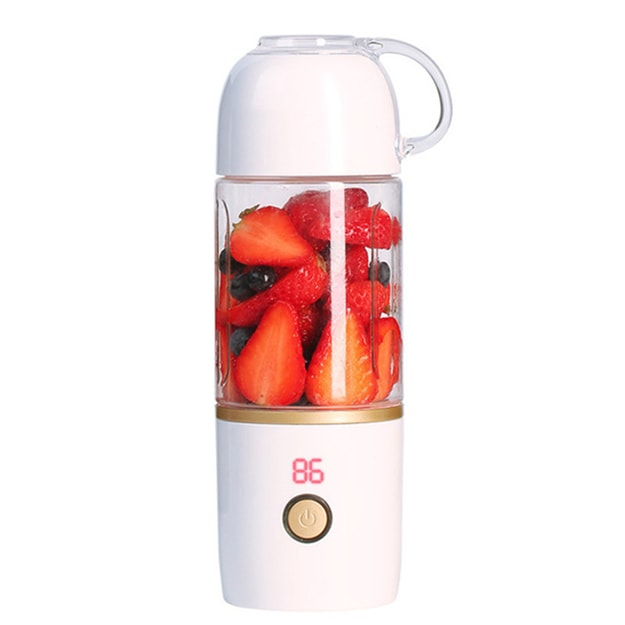 Product Detail - TIMESWOOD Mini Portable Electric Fruit Juicer Household Small Charging Portable Juice Machine 460ml Jade White 1PC - image 0