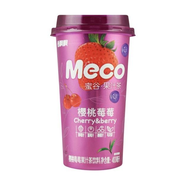 商品详情 - 香飘飘 MECO 蜜谷果汁茶 樱桃莓莓 400ml - image  0