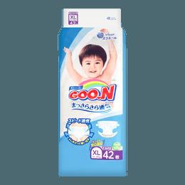 日本GOO.N大王 维E系列 通用婴儿纸尿布 XL号 12-20kg (27-45lb) 42枚入 添加维生素E