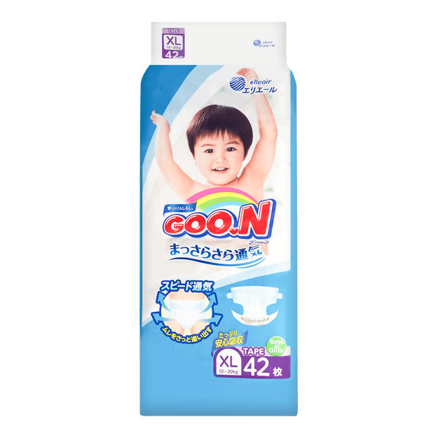 Product Detail - GOO.N Baby Diaper Tape Type XL Size 12-20kg 42pc (with Vitamin E) - image 0
