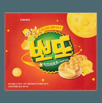 韩国CROWN 芝士夹心饼干 368g