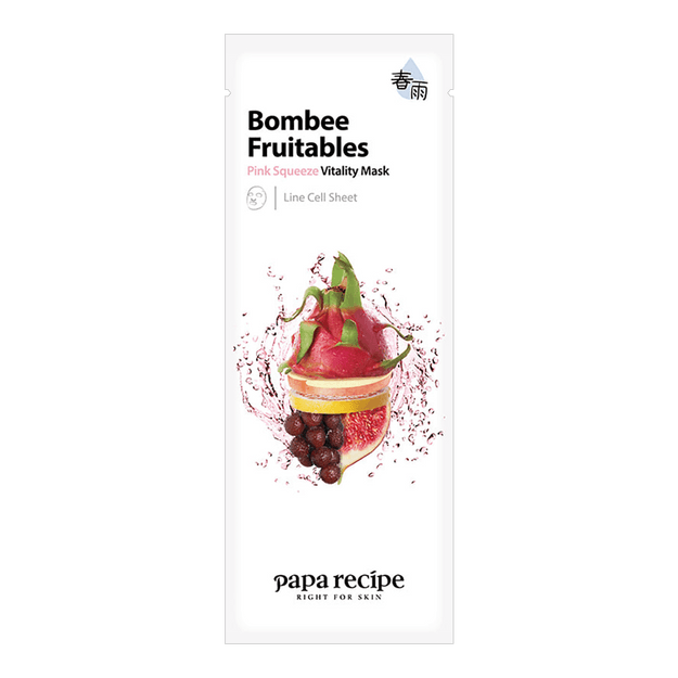 Product Detail - PAPA RECIPE Bombee Fruitables Pink Squeeze Vitality Mask 1 sheet - image 0