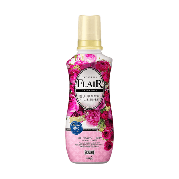 KAO FLAIR Fabric Softener #Fragrance Floral & Sweet 570ml