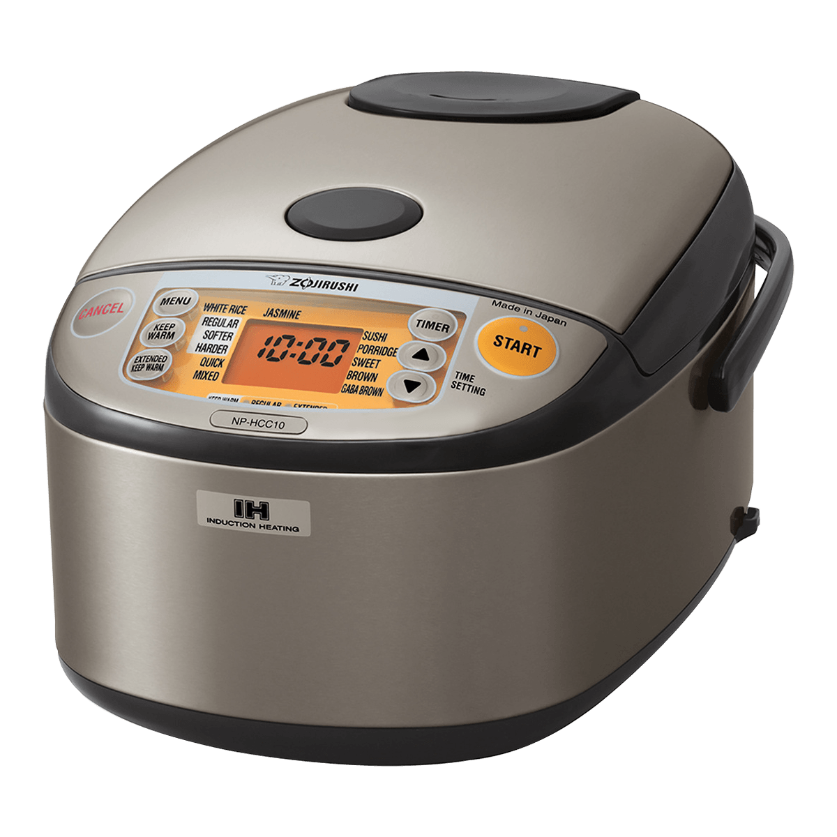 Yamibuy.com:Customer reviews:Induction Heating System Rice Cooker And Warmer, 1L, 5.5 Cup, Stainless Dark Gray, NP-HCC10, Made In Japan, 120 Volts