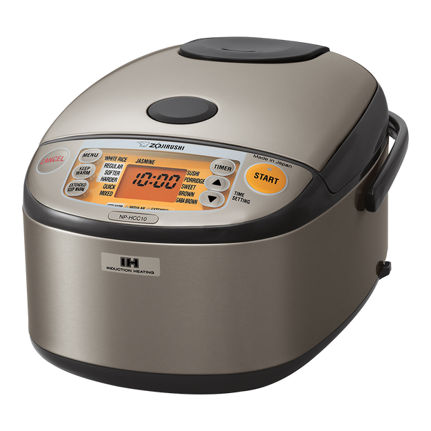Product Detail - ZOJIRUSHI Induction Heating System Rice Cooker and Warmer 1L Stainless Dark Gray NP-HCC10 - image 0