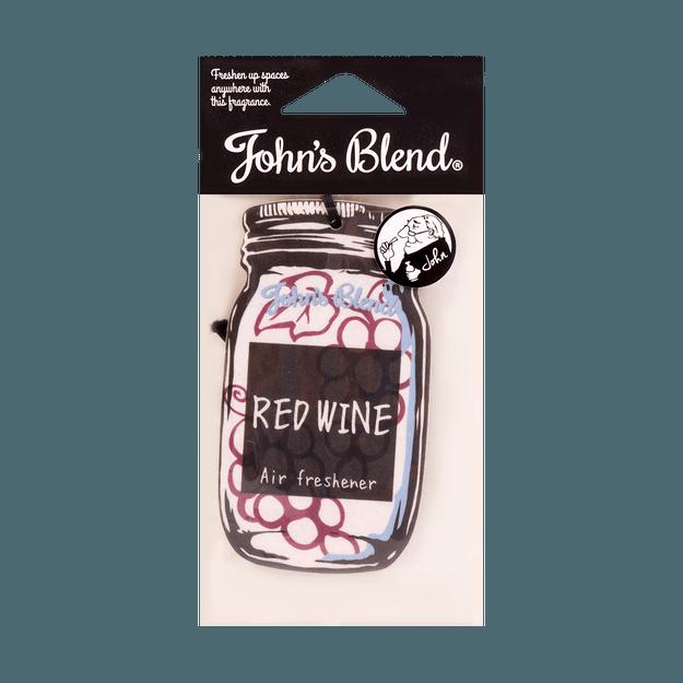 商品详情 - 日本JOHN\'S BLEND 悬挂式芳香剂香片 #红葡萄酒香 11g - image  0